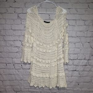 Anthropology Hazel Haze Crochet Tunic Top